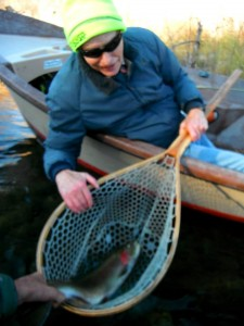 A happy client with his first ever Steelhead.