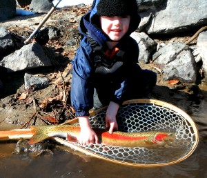Finley with his 2nd steelhead