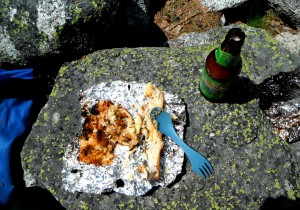 Cuban Potato and Brooke Trout on the fire with Pale Ale to wash it down.