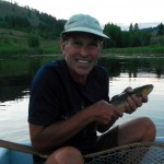 Happy client with first ever Brown Trout